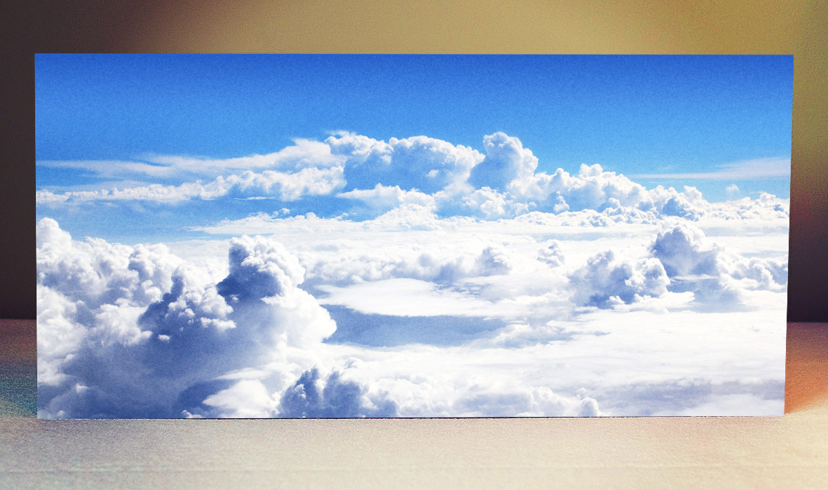 Striking Backdrops: Cloudy Sky (with optional back stand)