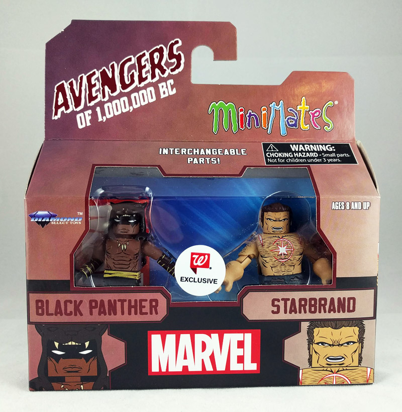 Black Panther & Star Brand Avengers 1,000,000 BC Walgreens Minimates
