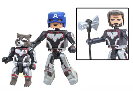 Avengers Endgame Captain America/Thor & Rocket Walgreens Minimates