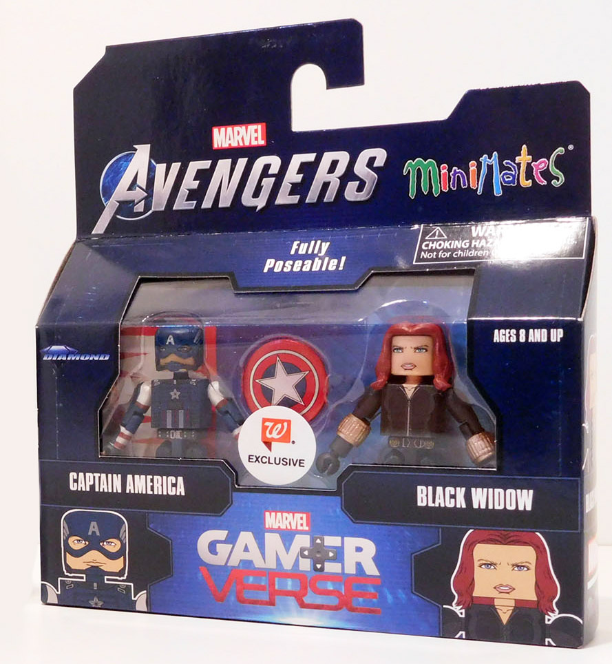 Captain America & Black Widow Gamerverse Walgreens Avengers Minimates