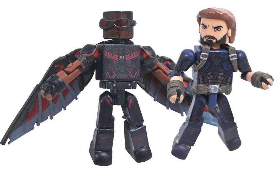 Captain America & Falcon Infinity War Minimates