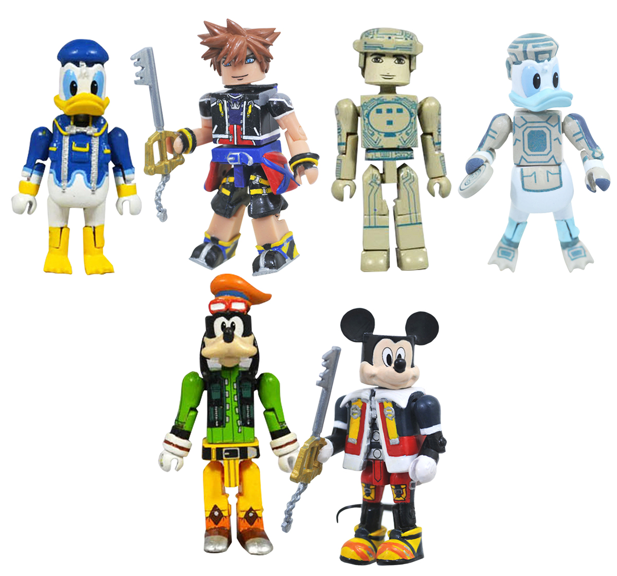 Kingdom Hearts Minimates Series 1 Full Set of 6
