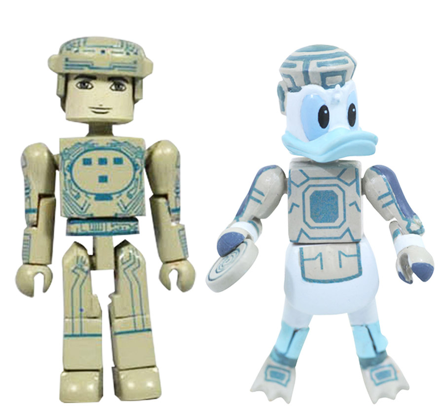 Space Paranoids Donald & Tron Kingdom Hearts Minimates