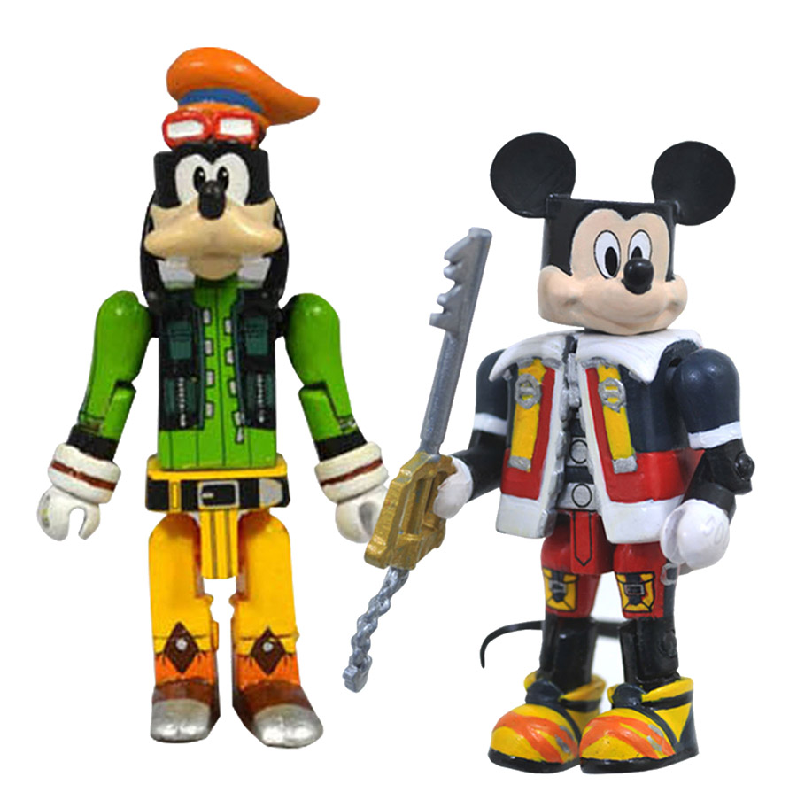 Mickey & Goofy Kingdom Hearts Minimates