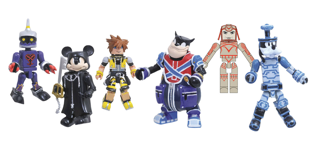 Kingdom Hearts Minimates Series 2 Full Set of 6