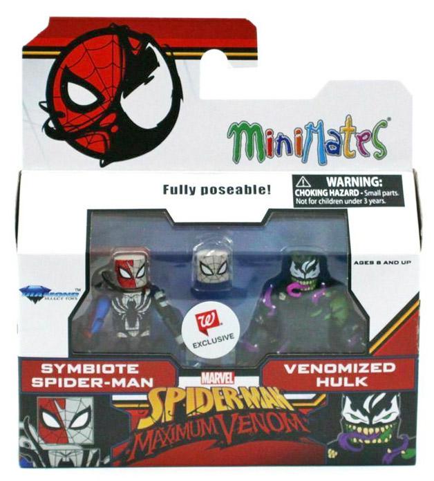 Symbiote Spider-Man & Venomized Hulk Walgreens Minimates