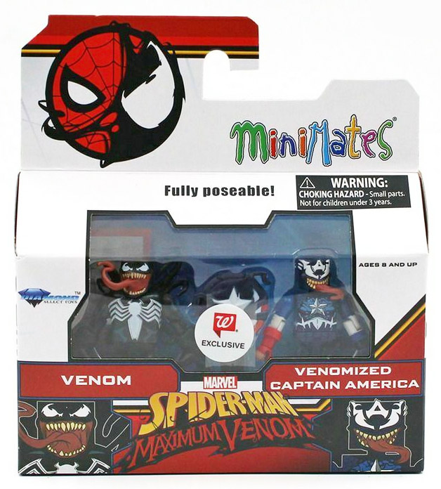 Venom & Venomized Captain America Walgreens Minimates