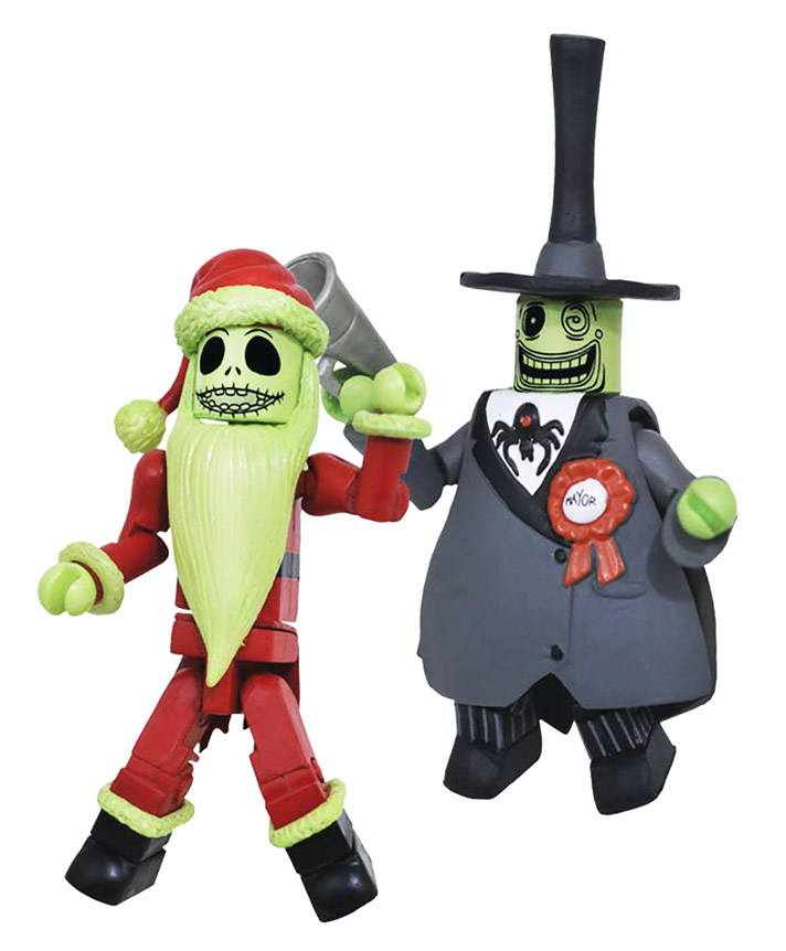 Glow-in-the-Dark Santa Jack & Glow-in-the-Dark Mayor Minimates