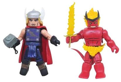 Ages of Thunder Thor VS Surtur Minimates