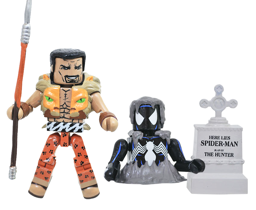 Black Costume Spider-Man & Kraven the Hunter Minimates