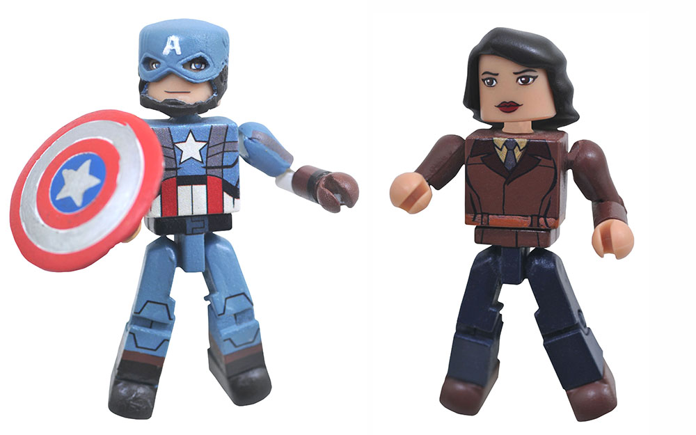 Captain America & Peggy Carter Walgreens Marvel Minimates