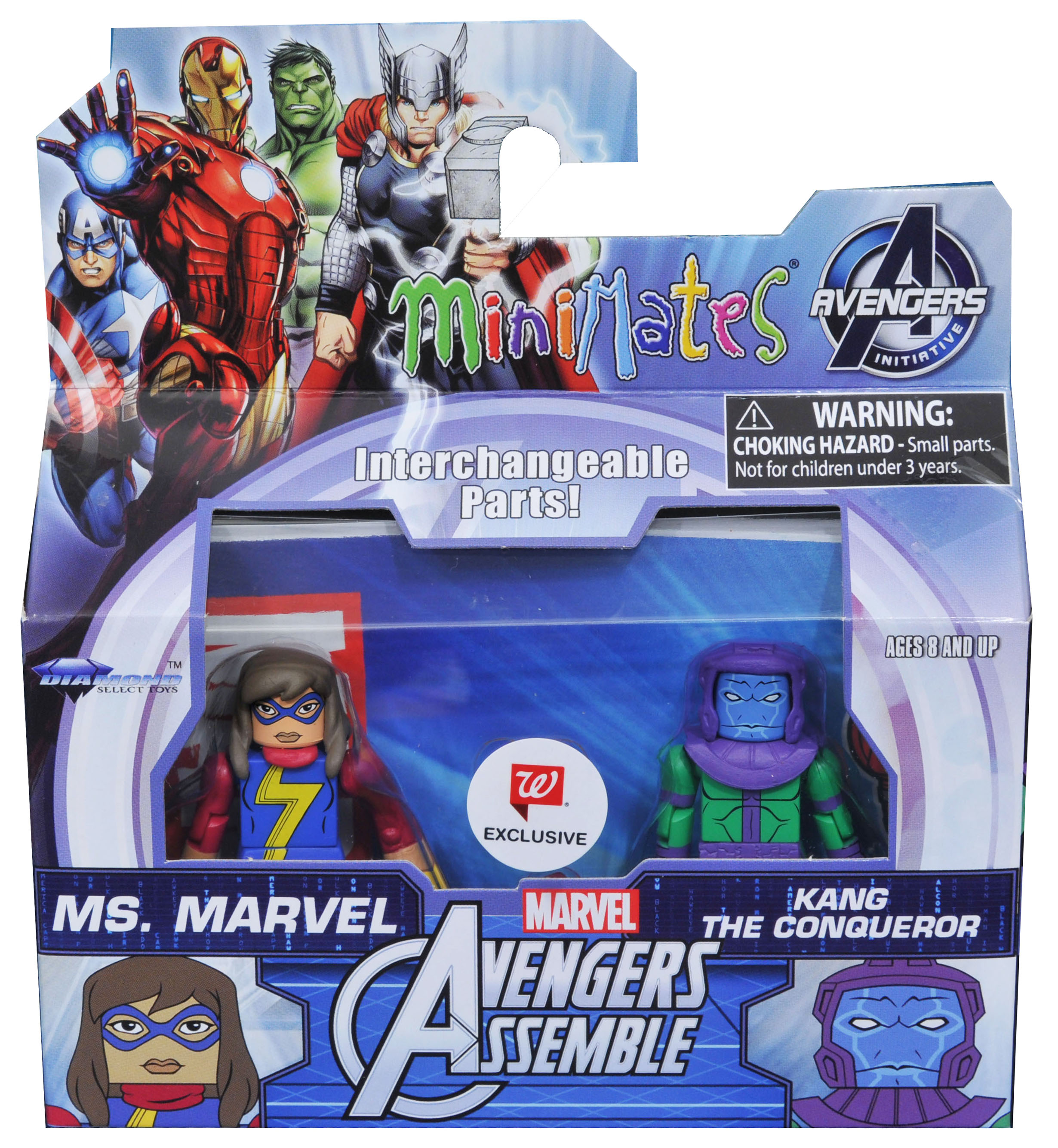Ms. Marvel & Kang Walgreens Minimates