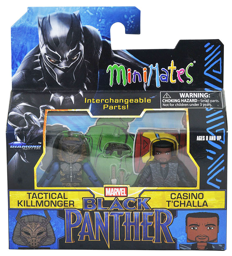 Tactical Killmonger & Casino T'Challa Walgreens Minimates