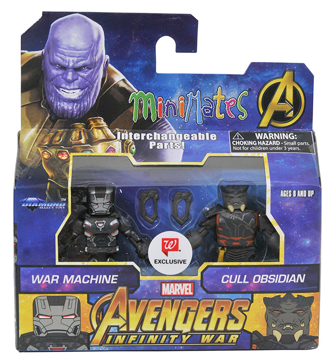 War Machine & Cull Obsidian Walgreen's Exclusive Marvel Minimates