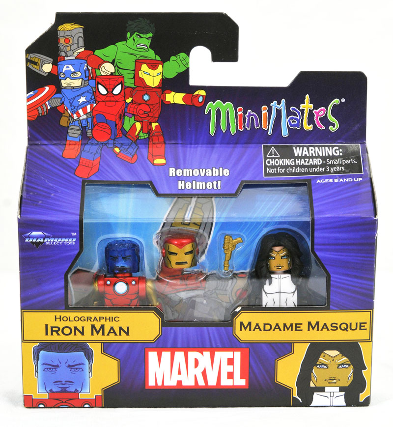 Holographic Tony Stark & Madame Masque Walgreen's Exclusive Minimates