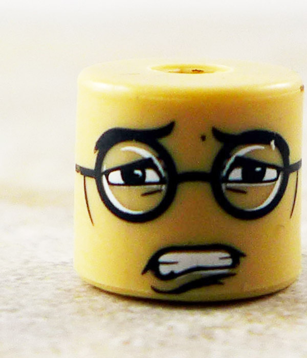 Male Scared Glasses Partial Loose Minimate
