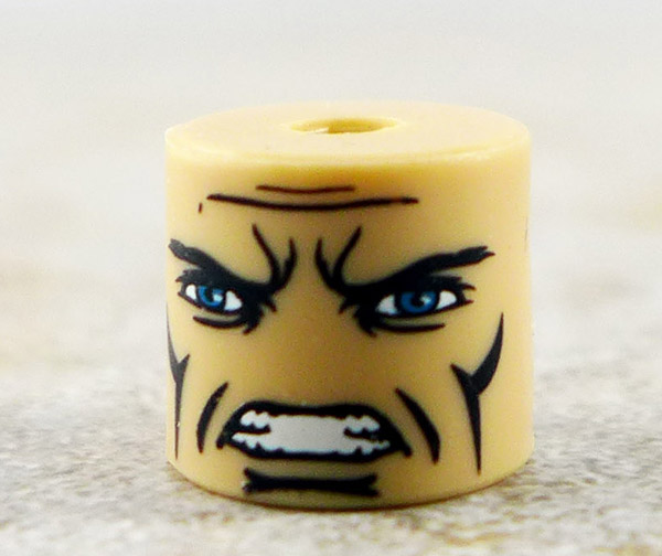 Angry Male Head (Blue Eyes)