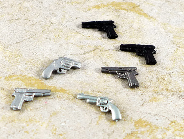 Lot of 6 Minimate Pistols Accessories