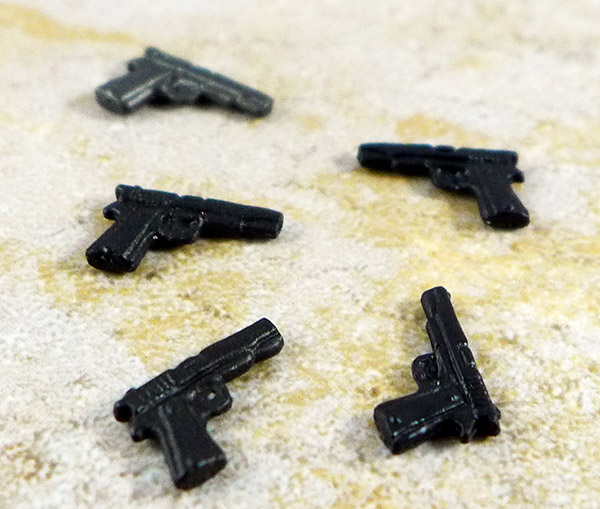 Lot of 5 Minimate Pistols Accessories