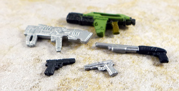 Lot of 5 Minimate Guns Accessories