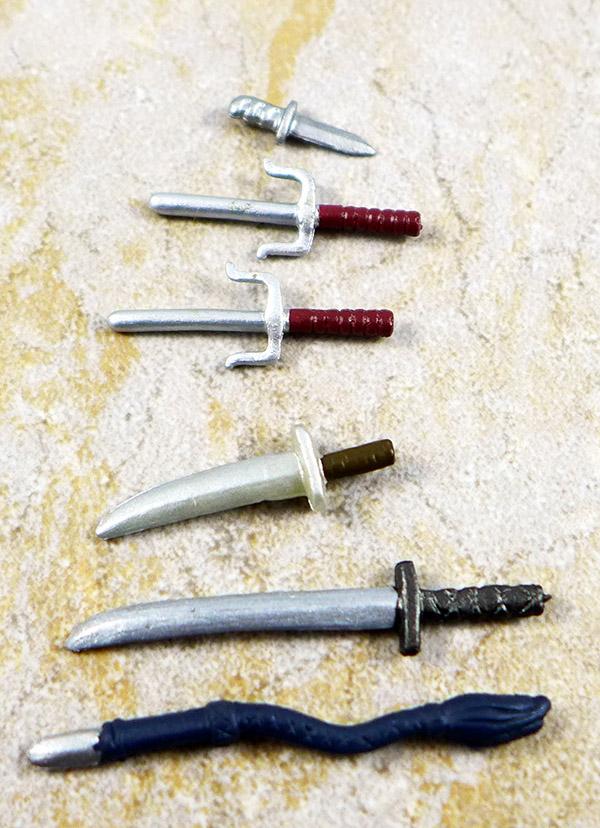 Sais, Swords, Whip and Knife Lot of 6