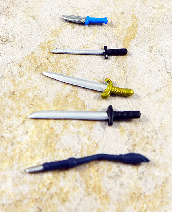 Swords, Knife and Whip Lot of 5
