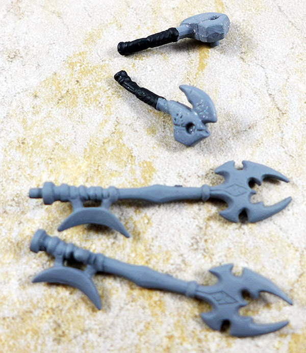 Small and Large Axe Lot of 4 (Battle Beasts Series 1)