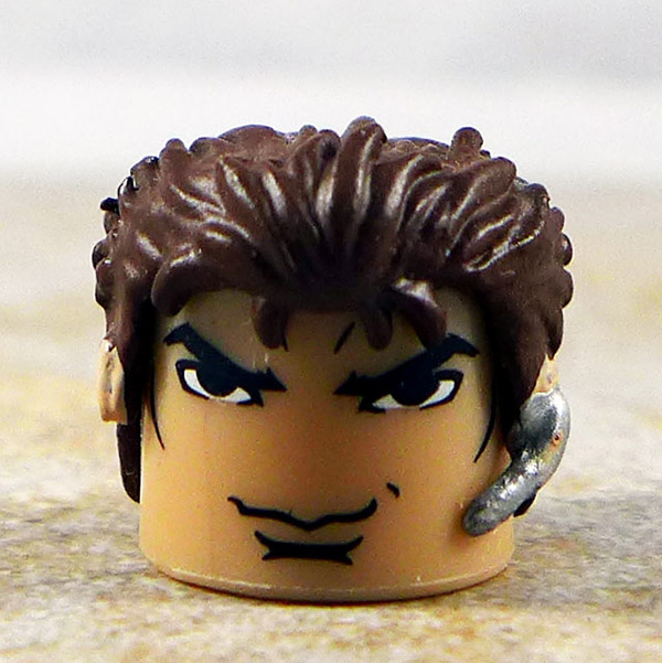 Chris Redfield Brown Hair with Mic, Custom Head (Marvel vs. Capcom Series 2)