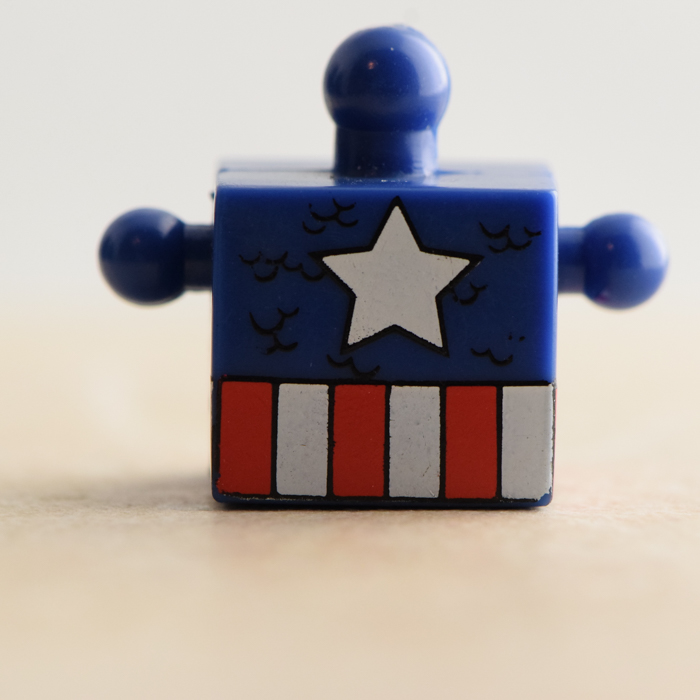 Captain America Blue and Red Torso (Marvel Wave 5)