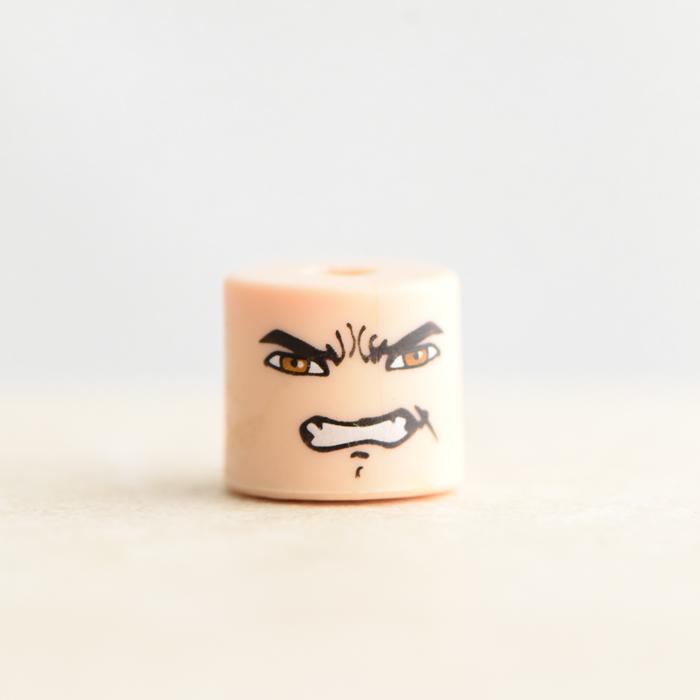 Male Head (Brown Eyes Grimacing)
