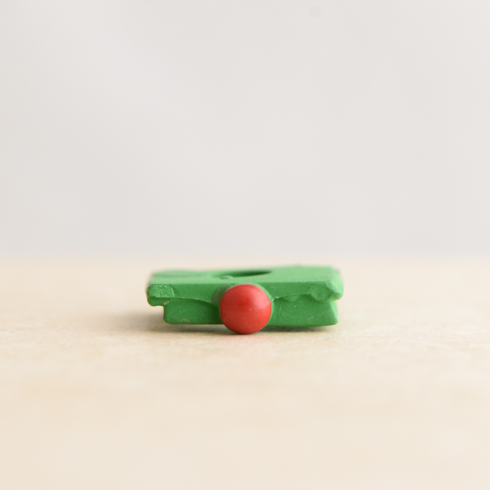 Green Belt With Red Ball Buckle