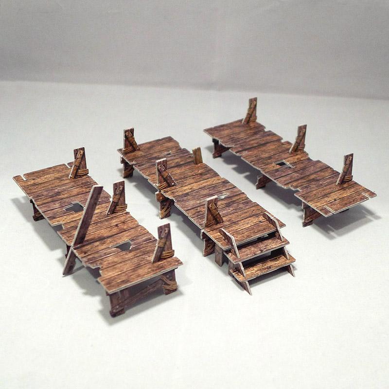 Abandoned Docks Diorama Set of 3