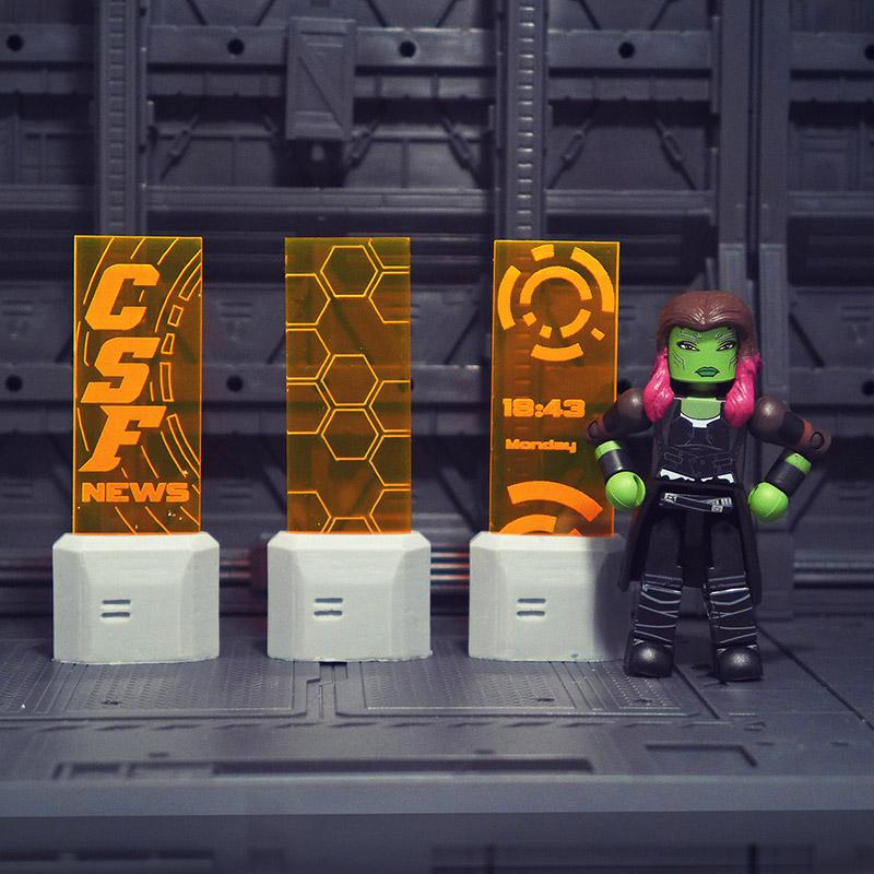 Sci-fi Holo-Ads Set of 3