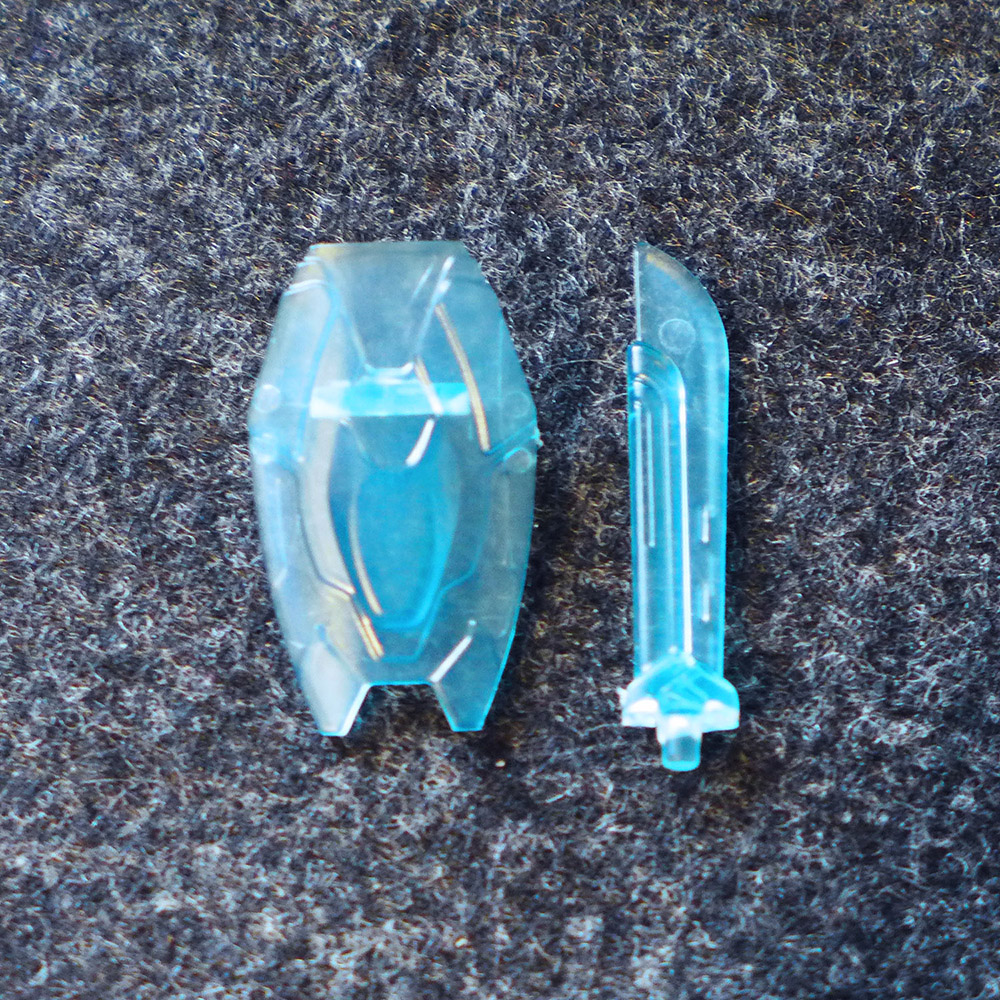 Iron Man Mark 85 Set of 2 Translucent Blue Accessories