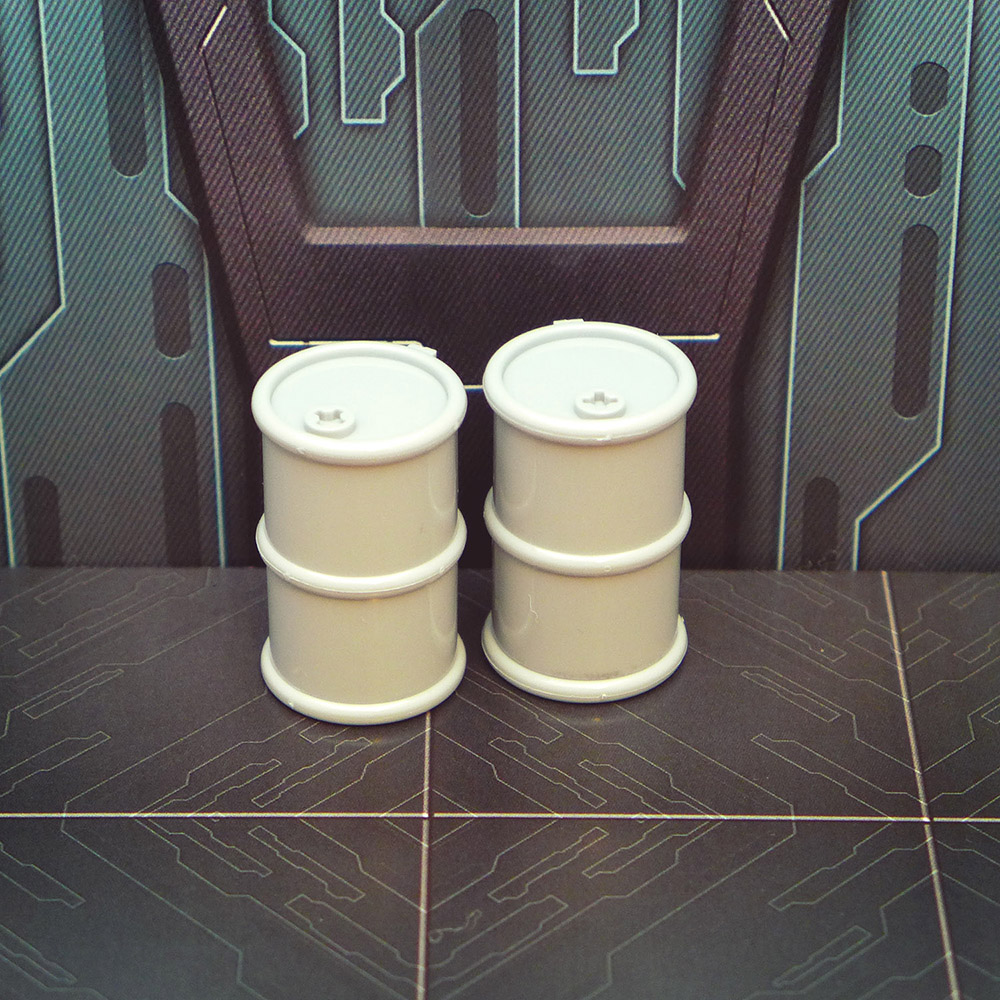 Large Oil Barrel Set of 2