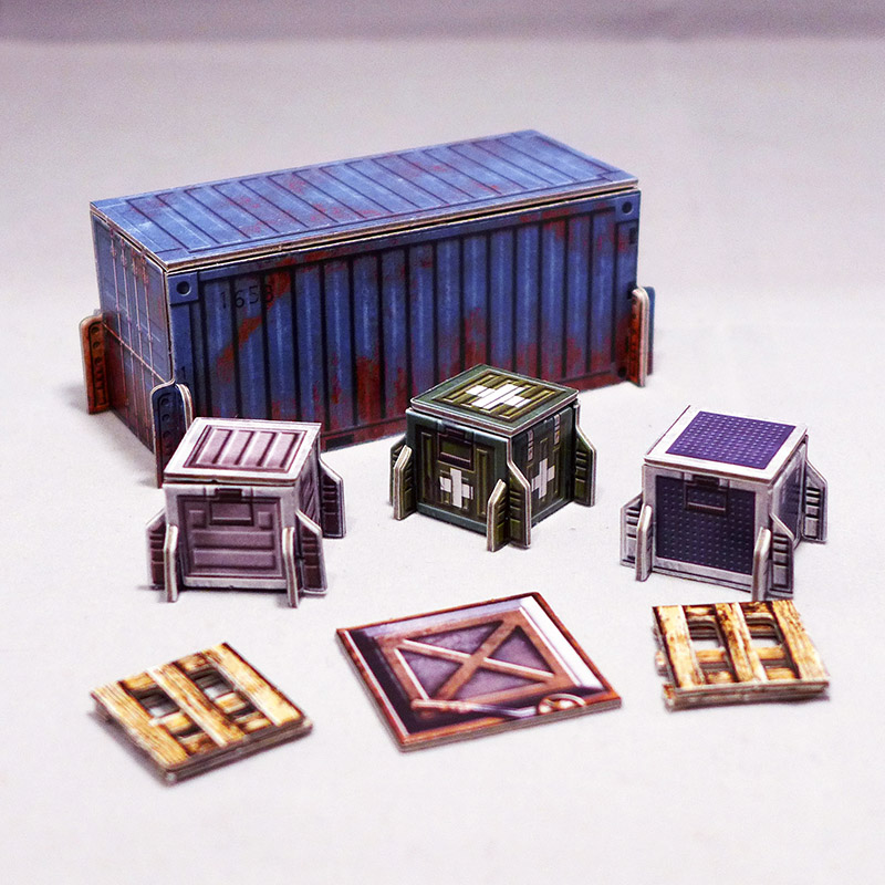 Sci-Fi Shipping Container Set of 7