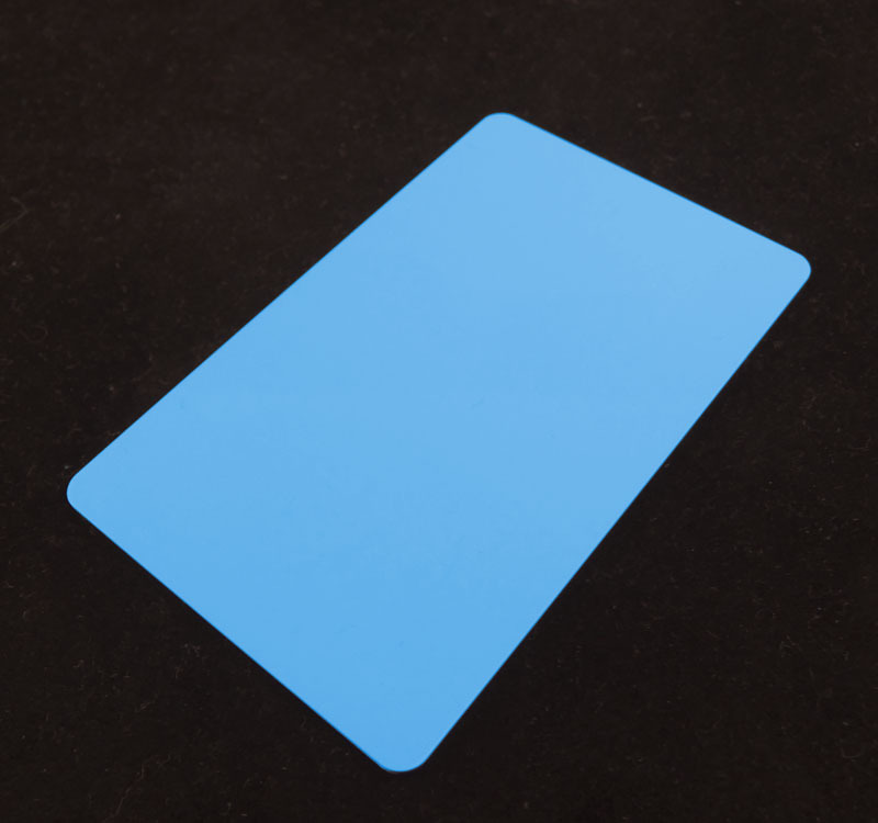 Light Blue Colored Plastic Sheet for Customizing
