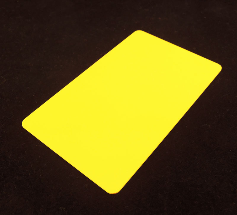 Yellow Colored Plastic Sheet for Customizing