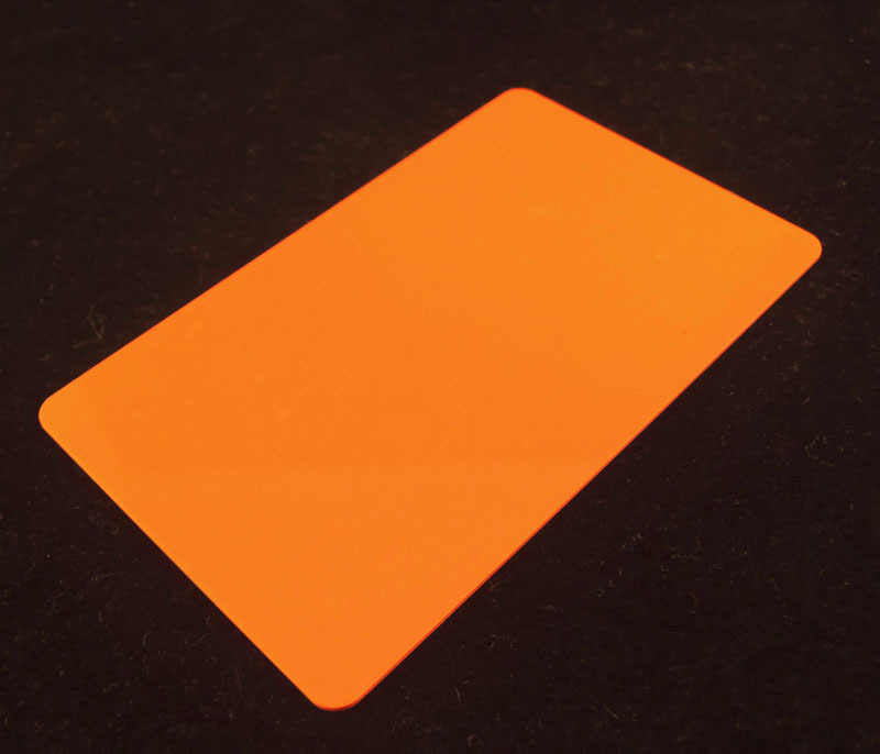 Orange Colored Plastic Sheet for Customizing