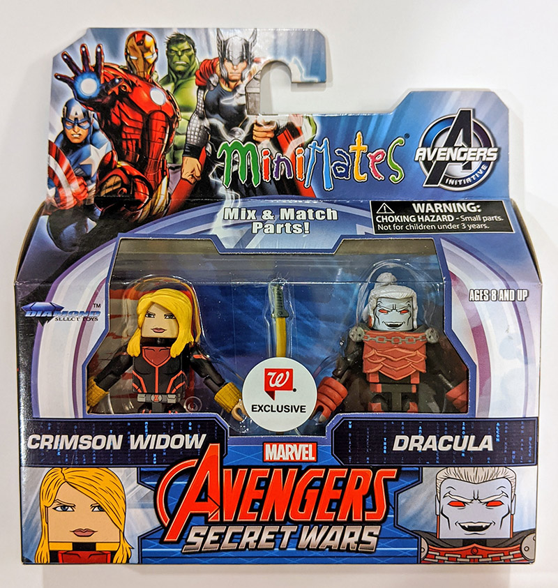 Crimson Widow & Dracula Walgreens Marvel Minimates