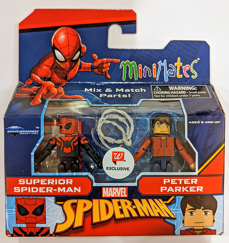 Superior Spider-Man & Peter Parker Walgreens Marvel Minimates