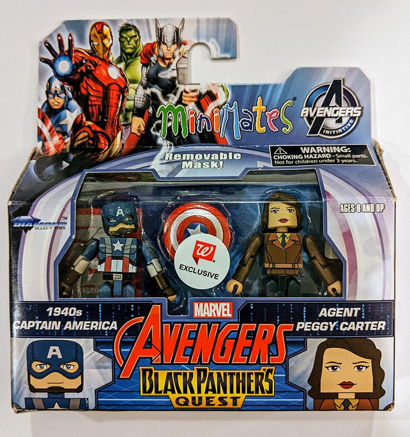 1940s Captain America & Agent Peggy Carter Walgreens Minimates