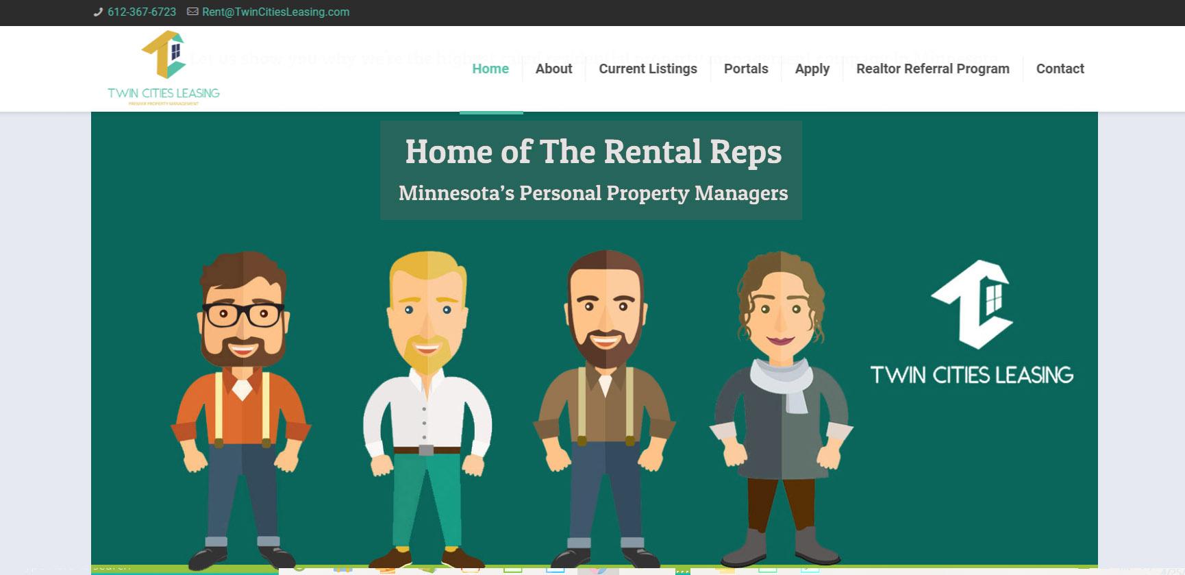Twin Cities Leasing Website