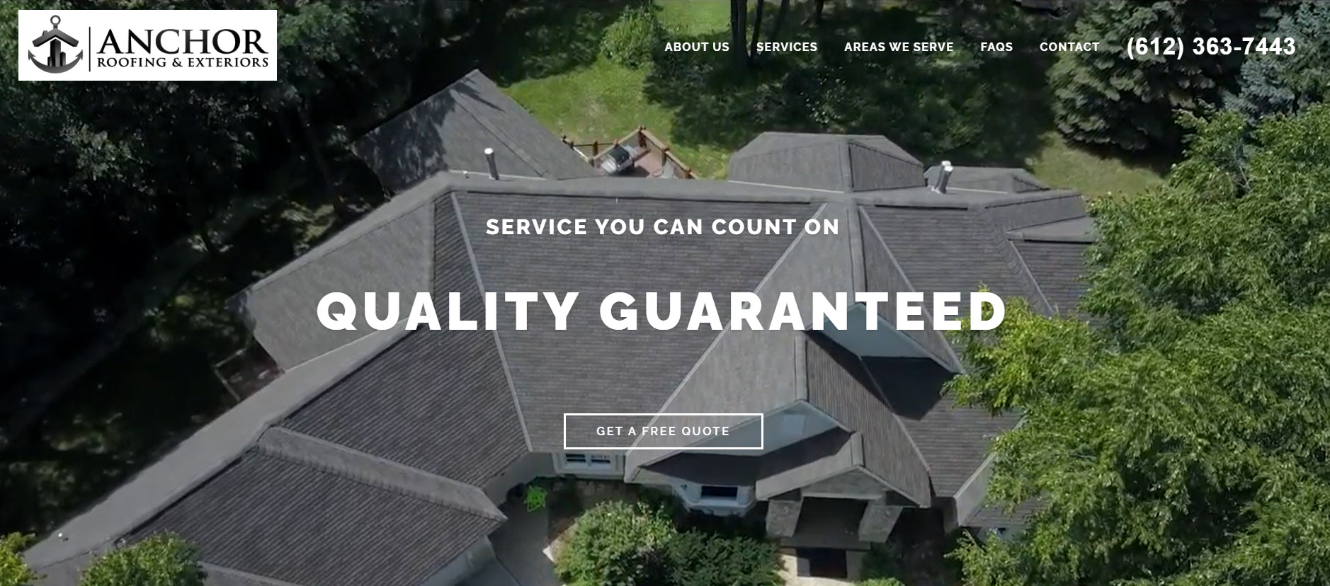 Anchor Roofing Website