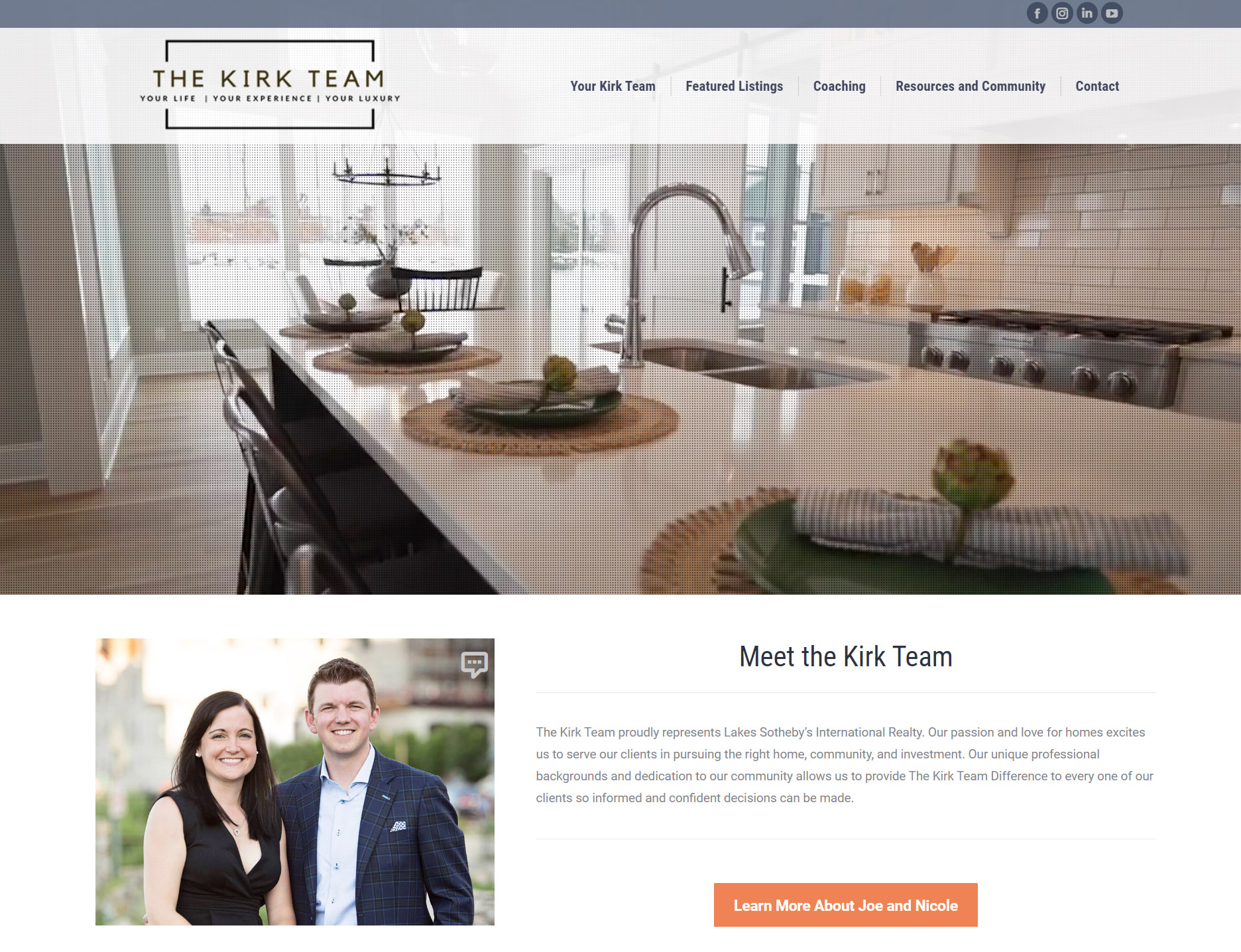 The Kirk Team Homes Website