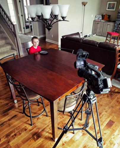 Filming Child Actor
