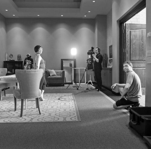 Filming Minda's Interview